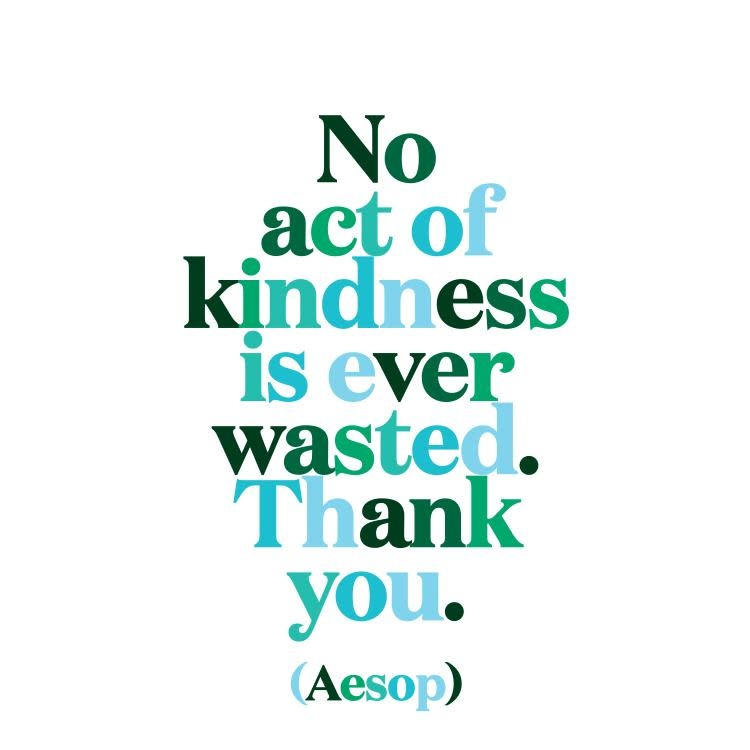 No Act of Kindness is Ever Wasted Inspirational Card