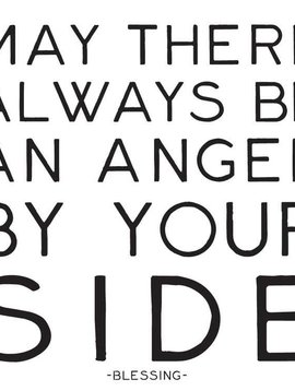 May There Always Be an Angel by Your Side Inspirational Card