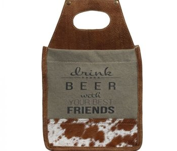 Drink Beer with you Best Friends Six Pack Caddy