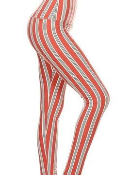 CURVY Candy Stripe Yoga Band Legging