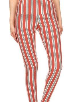 Candy Stripe Yoga Legging