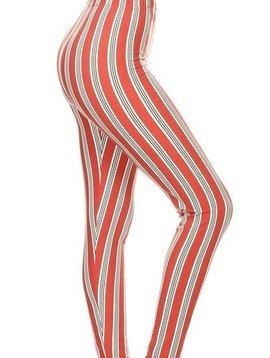 CURVY Candy Stripe Legging