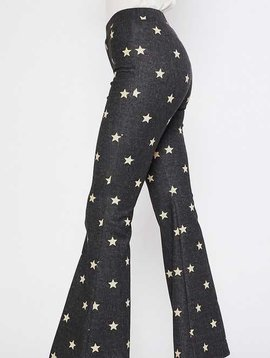 Black Star Denim Wide Leg Pants