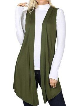 Olive Cardigan Vest