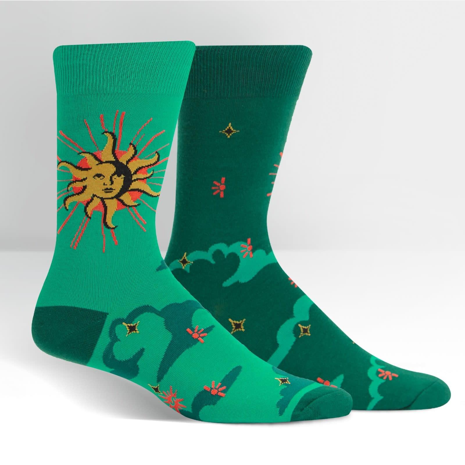 Sun and Moon Crew Socks