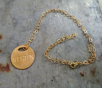 Weston Necklace Brass