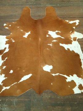 Reddish Brown & White Cowhide 2599