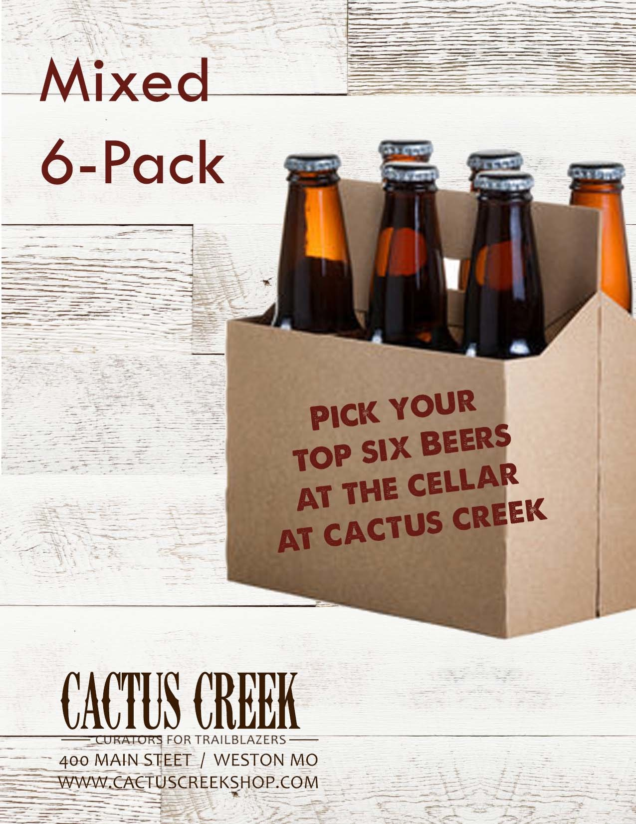 6-Pack Gift Card