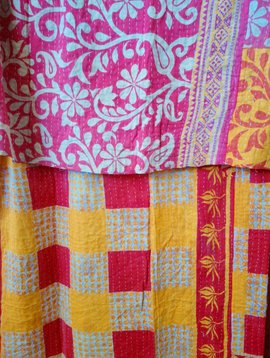 Kantha Sari Throw #351