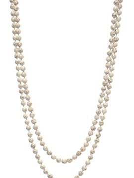 Ivory Long Natural Stone Beaded Necklace