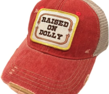Raised on Dolly Red Patch Cap