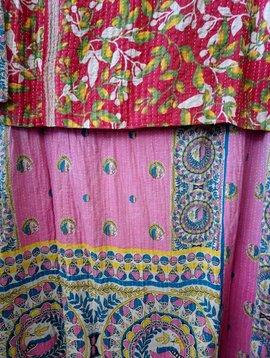 Kantha Sari Throw #346