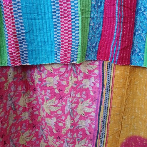 Kantha Sari Throw #369