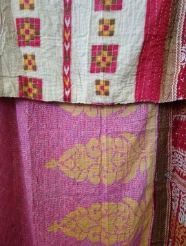 Kantha Sari Throw #366