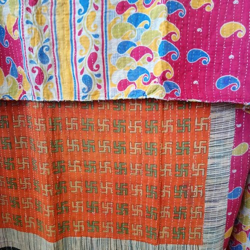 Kantha Sari Throw #384