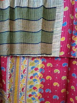 Kantha Sari Throw #384