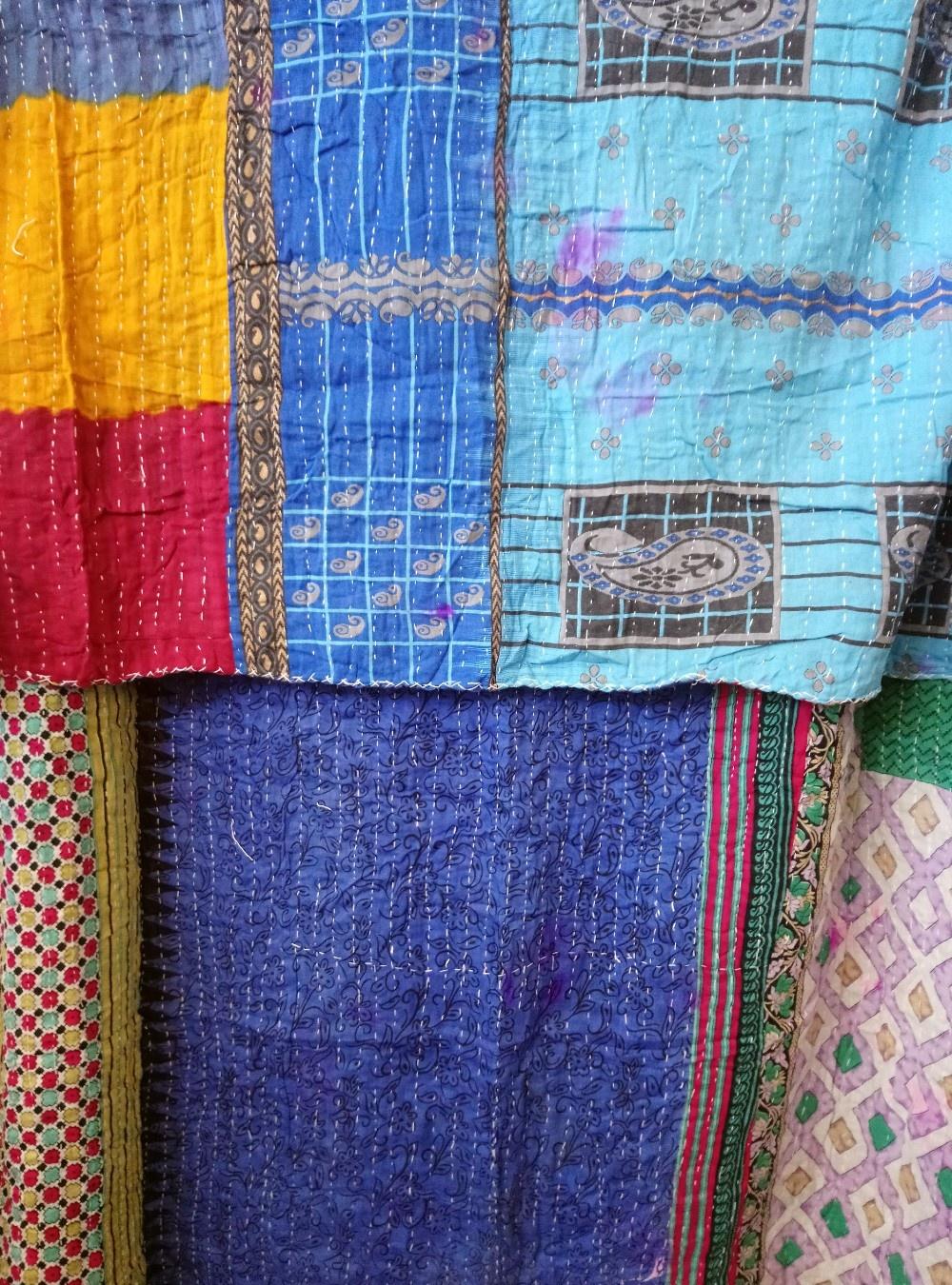 Kantha Sari Throw #370