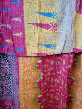 Kantha Sari Throw #378