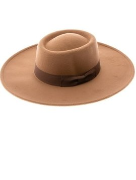 Brown Felt Panama Hat