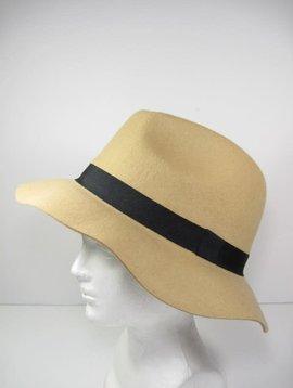 Camel Wool Felt Panama Hat