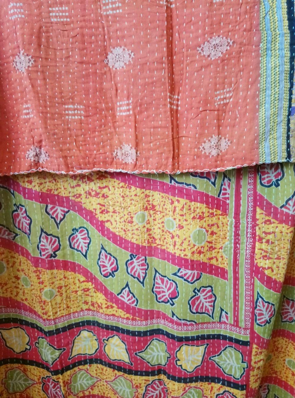 Kantha Sari Throw #379