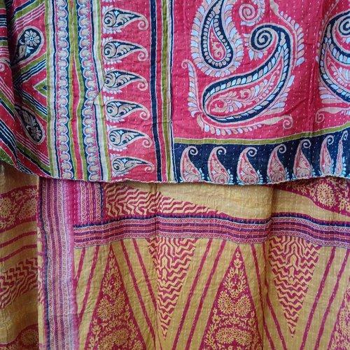 Kantha Sari Throw #373