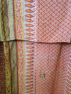 Kantha Sari Throw #371