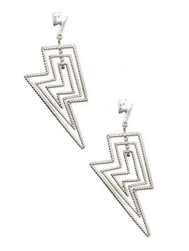 Silver Lightning Drop Earring