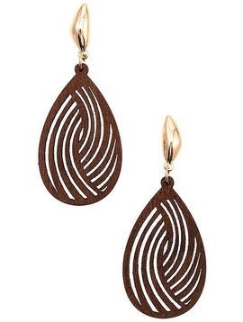 Brown Cutout Teardrop Earring
