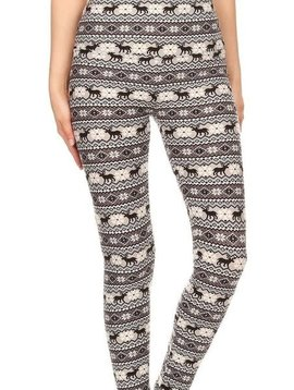 Winter Fair Isle Yoga Band Legging