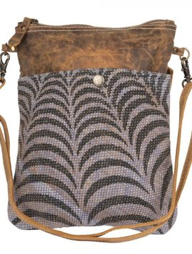 Gray Prism Crossbody Bag