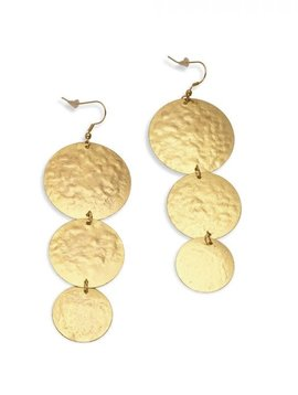 Golden Halo Drop Earrings