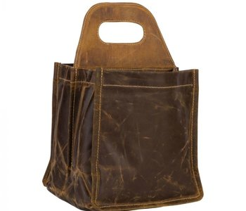 Date Palm 6 Pack Leather Caddy
