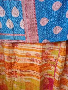 Kantha Sari Throw #426