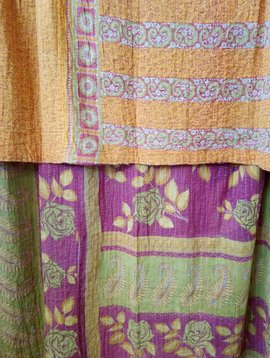 Kantha Sari Throw #422