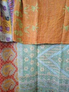 Kantha Sari Throw #419