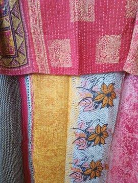 Kantha Sari Throw #418