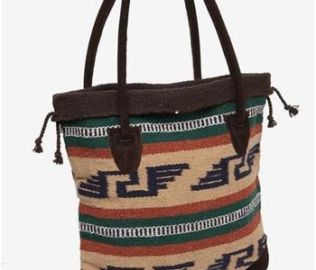 Dark Brown & Tan Monterrey Southwest Tote Bag