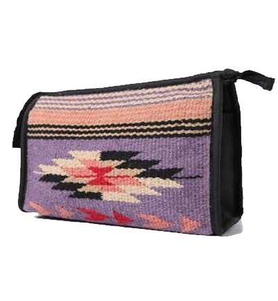 Purple Southwest Bag with Zipper and Lining for Organizing