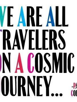 We are All Travelers on a Cosmic Journey Inspirational Card