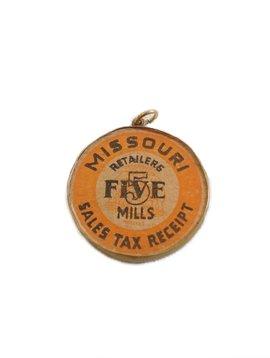 Missouri Sales Tax Receipt Wood Charm