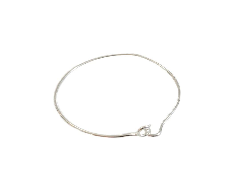 Silver Wire Bangle Charm Bracelet