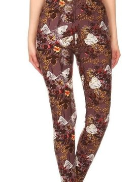 Butterfly Dream Elastic Band Legging