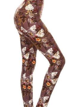 CURVY Butterfly Dream Yoga Band Legging
