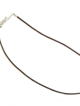 Cactus Creek Brown Cord Necklace