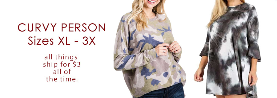 Curvy Person Collection Sizes XL - 3X