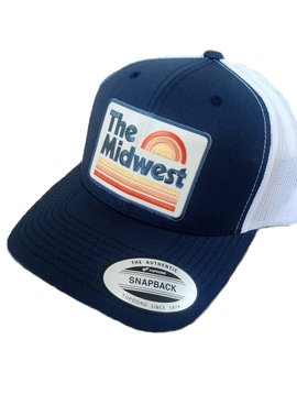 Midwest Navy & White Snapback Hat