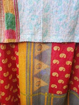 Kantha Sari Throw Blanket #457