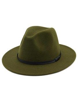 Retro Olive Panama Hat
