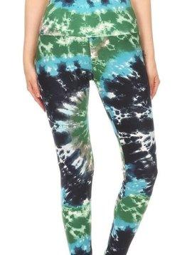 Earthy Ocean Tie Dye Yoga Legging